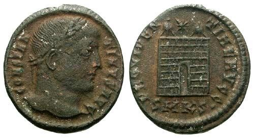 Ancient Coins - aVF/VF Constantine the Great / Campgate