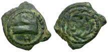 Ancient Coins - Kings of Judaea. Herod Archelaus Æ Prutah / Galley