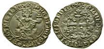 World Coins - EF/EF Italian States Naples and Sicily, Roberto d'Angio AR Gigliato