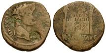 Ancient Coins - Tiberius as Caesar Æ AS / Altar of Lugdunum