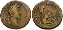 Ancient Coins - Lucius Verus Æ Sestertius / Parthian Captive