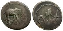 Ancient Coins - Roman Imperatorial. Julius Caesar AR Denarius / Elephant