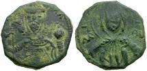 Ancient Coins - *Sear 1934* Byzantine Empire. Alexius I Comnenus Æ Half Tetarteron