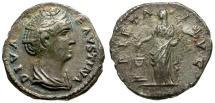 Ancient Coins - Faustina I AR Denarius / Pietas
