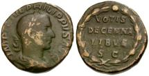 Ancient Coins - Philip I Æ Sestertius / Votive