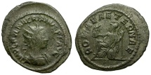 Ancient Coins - Macrianus. Usurper Billon Antoninianus / Roma Seated