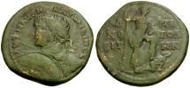 Ancient Coins - Caracalla. Thrace. Hadrianopolis Æ28 / Emperor and Captive