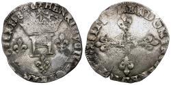 World Coins - France. Henri III (1574-1589) AR Double Sol Parisis