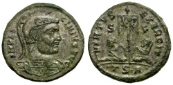 Ancient Coins - Licinius I Silvered Æ Follis / Banner