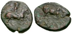 Ancient Coins - Thessaly. Krannon Æ16 / Bull