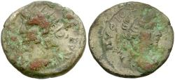 Ancient Coins - Nero (AD 54-68). Egypt. Alexandria Billon Tetradrachm / Bust of Apollo