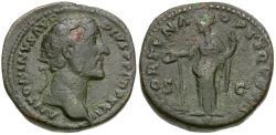 Ancient Coins - Antoninus Pius (AD 138-161) Æ AS / Fortuna