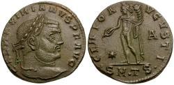 Ancient Coins - Galerius as Augustus Æ Follis / Genius