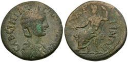 Ancient Coins - Tranquillina (AD 238-244). Pisidia. Baris Æ25 / Zeus
