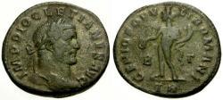 Ancient Coins - aVF/aVF Diocletian Æ Follis / Genius