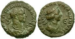 Ancient Coins - Aurelian (AD 270-275) with Vabalathus. Egypt. Alexandria BI Tetradrachm