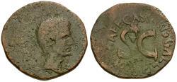 Ancient Coins - Augustus (27 BC-AD 14). C. Asinius Gallus moneyer Æ AS