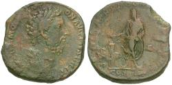Ancient Coins - Commodus (AD 177-192) Æ Sestertius / Emperor Sacrificing