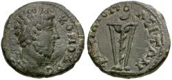 Ancient Coins - Commodus. Thrace. Philippopolis Æ17 / Tripod and Snake