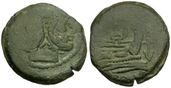 Ancient Coins - 169-158 BC - Roman Republic. Anonymous Æ AS / Anchor
