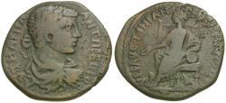 Ancient Coins - Caracalla (AD 198-217). Moesia Inferior. Julius Faustinianus. Marcianopolis / Cybele