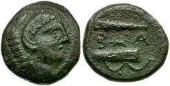 Ancient Coins - Kings of Macedon. Alexander III the Great Posthumous Issue Æ17 / Club Bow with Quiver