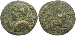Ancient Coins - Severus Alexander (AD 222-235). Mesopotamia. Edessa Æ25 / Tyche