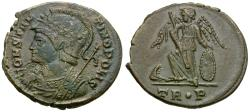 Ancient Coins - Constantine I the Great (AD 306-337). Constantinople Commemorative Series Æ4 / Victory