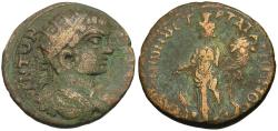 Ancient Coins - Caracalla (AD 198-217). Phrygia. Peltae. T Mar Tat Arionos, strategos Æ21 / Kybele