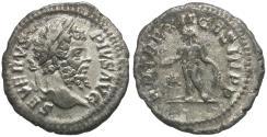 Ancient Coins - Septimius Severus (AD 193-211) AR Denarius / Genius Sacrificing