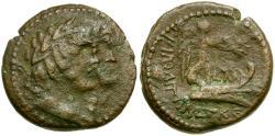 Ancient Coins - Phoenicia. Tripolis Æ22 / Dioscuri