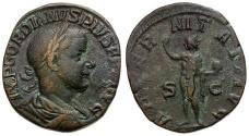 Ancient Coins - Gordian III Æ Sestertius / Sol