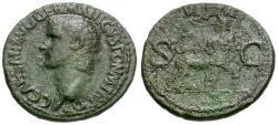 Ancient Coins - Caligula (AD 37-41) Æ AS / Vesta