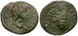 Ancient Coins - Nero. Cilicia. Anazarbus Æ18 / Boule Seated