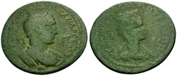 Ancient Coins - Severus Alexander, Cilicia, Tarsus Æ39 / Bust of Tyche
