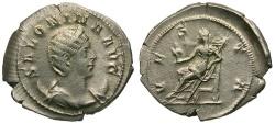 Ancient Coins - Salonina AR Antoninianus / Vesta