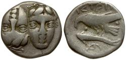 Ancient Coins - Thrace. Istros AR Drachm / Inverted Heads