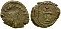 Ancient Coins - Germanic Tribes of North Africa. Vandals Æ11 / Cross