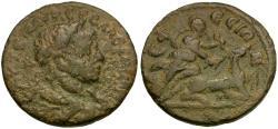 Ancient Coins - Severus Alexander (AD 222-235). Ionia. Ephesos Æ21 / Artemis and Stag