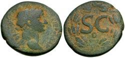 Ancient Coins - Trajan (AD 98-117). Seleucis and Pieria. Antioch Æ AS / Wreath