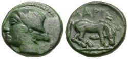 Ancient Coins - Thessaly. Larissa Æ12 / Horse