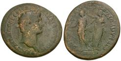 Ancient Coins - Trajan (AD 98-117). Ionia. Smyrna. Cl. Proclus, stephanephoros and Cl. Bion, strategos Æ30 / Herakles Crowned