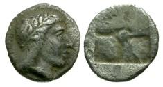 Ancient Coins - Ionia. Kolophon AR Hemiobol / Apollo