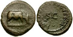 Ancient Coins - Domitian (AD 81-96) Æ Quadrans / Rhinoceros