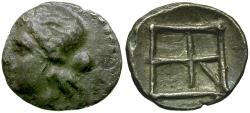Ancient Coins - Crete. Kydonia AR Diobol / Nymph