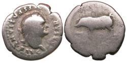 Ancient Coins - Vespasian (AD 69-79) AR Denarius / Sow