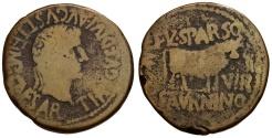 Ancient Coins - Tiberius.  Spain. Calagurris Æ28 / Bull