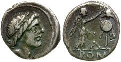 Ancient Coins - 81 BC - Roman Republic.  Anonymous Issue AR Quinarius