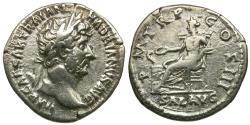 Ancient Coins - Hadrian (AD 117-138) AR Denarius / Salus