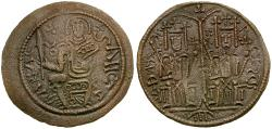 World Coins - Hungary. Bela III Æ Scyphate Follis